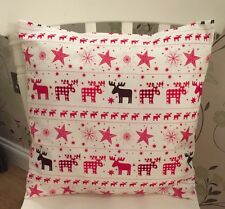 ❤️Christmas Rose /& Hubble Red White Christmas Tree Shabby Chic Cushion Cover❤️