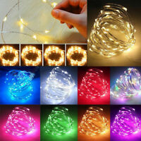 20 / 50 / 100 LED MICRO WIRE STRING FAIRY PARTY XMAS WEDDING CHRISTMAS LIGHT Y1