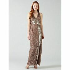 PHASE EIGHT BNWT RAPHAEL Bronze Sequin Bodycon Cocktail Evening Dress Size 14