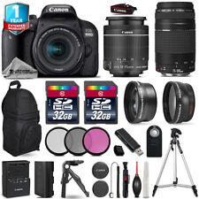 Canon Rebel 800D T7i Camera + 18-55mm STM + 75-300mm + Filter Kit + 1yr Warranty