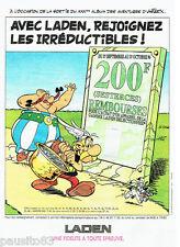 PUBLICITE ADVERTISING 096  1996  Laden lave linge Astérix & Obélix