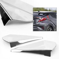Chrome Rear Tail Side Window Spoiler Wing Cover Trim For Toyota C-HR CHR 2016-18