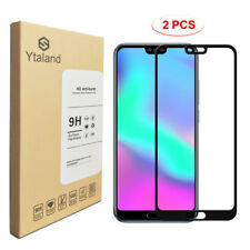 Ytaland 2Pcs Full Glue Cover Tempered Glass Screen Protector For Huawei Honor 10