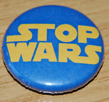Stop Wars Button Badge 25mm / 1 inch Peace Anti-War Spoof Hippy CND