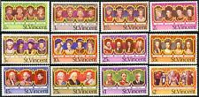 St. Vincent QEII Silver Jubilee Kings & Queens Set of 12 Scott's 483 to 494 MNH