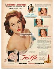 1953 Westmore Tru Glo Cosmetics Make-up Susan Hayward Vtg. Print Ad