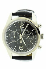 Bell & Ross Vintage Officer Chronograph Stainless Steel Watch BRG126-BL-ST/SCR