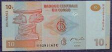 Congo 10 francs uncirculate bank note