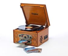 Steepletone Chichester II - Light Oak Nostalgic Retro Record Player Music System