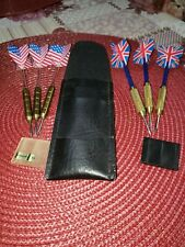 Vintage Steel Tip Darts 1 case 2 sets of 3 darts.Brass and steel