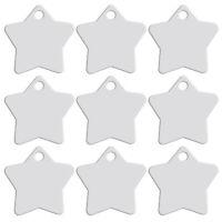 20pcs/lot Silver Star Shape Pet Dog Tags Disc Aluminum Custom ID Name Collar Tag