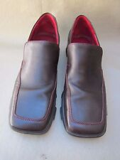 """DONALD J. PLINER"" Women's Dark Brown Sport Flats Square Toe Rubber Sole 9 Med."