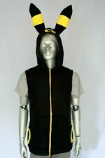 Pokemon Umbreon kigurumi short sleeve hood hoodie Costume Cosplay