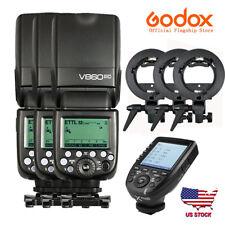 US 3X Godox V860II-C 2.4G i-TTL HSS Speedlite Flash Xpro-c Transmitter For Canon