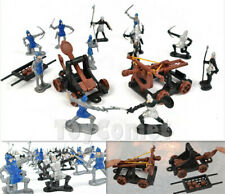 14 pcs Knights Catapult Crossbow Medieval Toy Soldiers Figures Playset