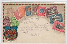 MEXICO: Embossed stamp postcard (C30998)