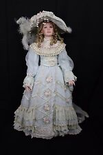 "LE 1997 THELMA RESCH LADY JUDITH 36"" PORCELAIN Victorian DOLL Dress Violet Eyes"