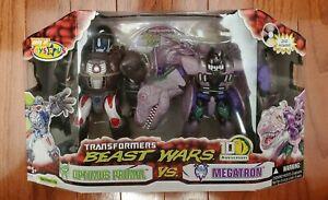 Transformers Beast Wars Optimus Primal Megatron 10th Anniversary TRU exclusive