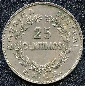 1937 Costa Rica 25 Centimes Coin