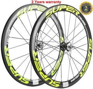 700C Track Bike Carbon Wheels 50mm Depth 23mm Width Fixed Gear Carbon Wheelset