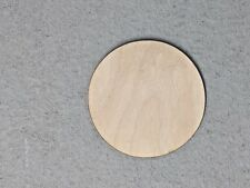 50 ct 1 inch wood CIRCLE shape DIY 1 inch wooden coin craft piece round