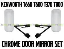 Kenworth T660 T600 T370 T800 Door Mirror Power Heated Chrome with Arm LH & RH