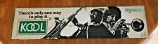 """VINTAGE JAZZ MIRROR KOOL CIGARETTES 1983 THERES ONLY ONE WAY TO PLAY IT 27""""X 7"""""""