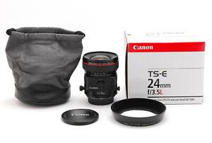 【TOP MINT BOXED】Canon TS-E 24mm f/3.5 L Tilt-Shift Lens EF From JAPAN