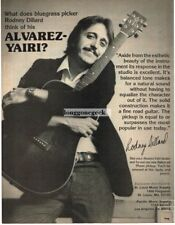 1981 ALVAREZ YAIRI Acoustic Guitar RODNEY DILLARD Vtg Print Ad