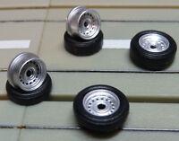 für H0 Slotcar Racing Modellbahn -- 1 Satz Tuning Felgen für Flachankermotor