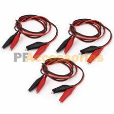 """6 Pcs 20"""" inch Double Ended Alligator Clips Test Lead Jumper Wire (Red / Black)"""