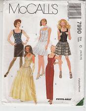 Bridal Bridesmaid Top Skirt 2 Lengths McCalls Sewing Pattern 7990 Uncut 10-14