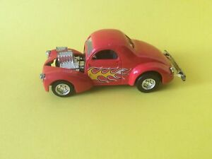 1:32 Vintage Majorette Willys 1941 Coupe M Hot Rods 1/32 Series Red