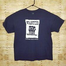 Three Amigos Cozumel Adult XL Tee Shirt Mens Wanted Poster Vacation Mexico
