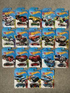 Hot Wheels Bundle Job Lot of 18 Vehicles - New on Cards - Joblot 4 - Long Cards
