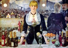 A Bar at the Folies-Bergere Edouard Manet Impressionist Print Poster 11x14