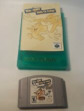 Tom and Jerry Fists Of Fury Nintendo 64 Cartridge Instructions & Box