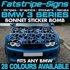 BMW 3 SERIES GRAPHICS STICKER BOMB BONNET DECALS STICKERS STRIPES E46 M3 SKULL