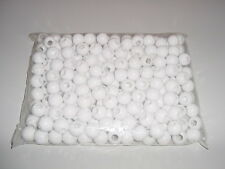 Plastic 22mm Round Beads - Snow White
