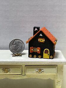 Vintage Artisan Halloween Candy House Table Display Dollhouse Miniature 1:12