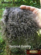 M00797 Morezmore Hair Tibetan Lamb Fur Seconds Ash Brown for Doll Baby Puppet
