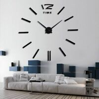 Wall Clock 3d Diy Acrylic Mirror Horloge Stickers Living Room Quartz Needle