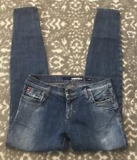 Miss Sixty Jeans Women's Size 31 J Lot Zipper Ankles Distressed Skinny Tapered