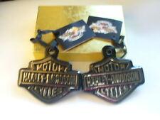 "2 Harley Davidson 2005 Black Ceramic Bars & Shield 3 3/4"" x 3 1/2"" New W/Tags"