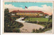 The ZOO at HIGHLAND PARK Pittsburgh PA Postcard Pennsylvania Vintage 1925