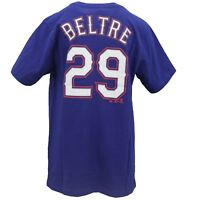Texas Rangers Official MLB Majestic Kids Youth Size Adrian Beltre T-Shirt New