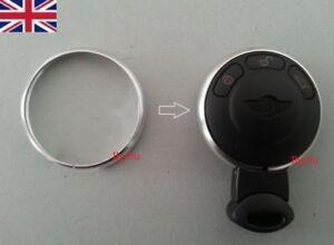 NEW SILVER Key Fob Trim Ring Rim for Mini Cooper 2008-2013 JCW ONE COOPER S