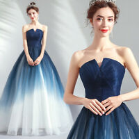 Noble Evening Formal Ball Gown Prom Bridesmaid Beads Embroidery Dress TSJY9011