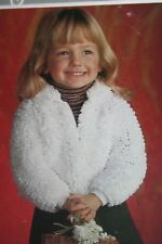 Girls Loopy Knit Cardigan KNITTING PATTERN (MAC057)