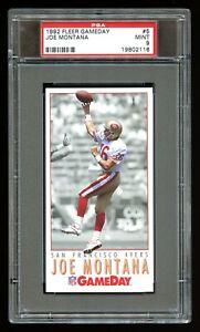 1992 Fleer GameDay - JOE MONTANA Card #5 - PSA 9 MINT - Tall Boy Oversized 49ers